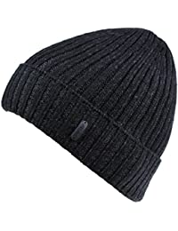 Classic Men's Warm Winter Hats Thick Knit Cuff Beanie Cap with Lining