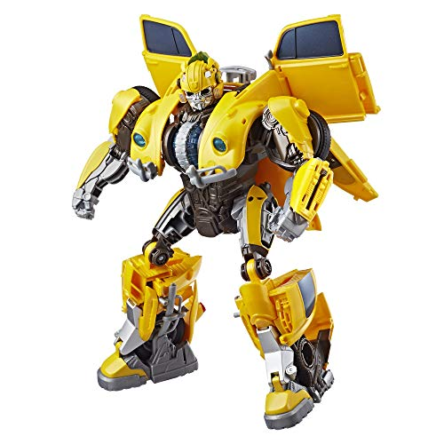 Transformers: Bumblebee Movie Toys, Power Charge Bumblebee Action Figure - Spinning Core, Lights and Sounds - Toys for Kids 6 and Up, -