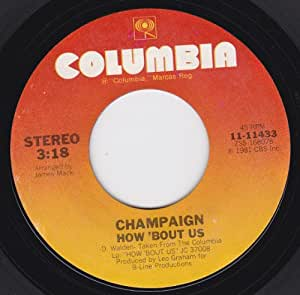 champaign how bout us spinnin vg 45 rpm music. Black Bedroom Furniture Sets. Home Design Ideas