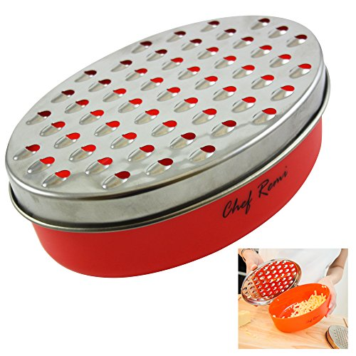 Latest Cheese Grater With Airtight Box Storage Container - Lifetime Replacement Warranty - Rated Best Shredder For Hard & Soft Cheeses, Ginger, Vegetables - Invented To Solve Your Food Grating Needs
