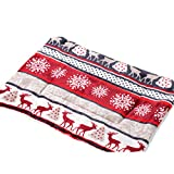 Pet Mat Dog Cat Flannel Blanket Bed Soft Cushion Kennel Cage Pad House Washable (L, Sika deer)