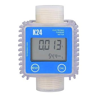 K24 LCD Digital Turbina Flussometro Diesel Contalitri Per Acqua Chimica Gasolio