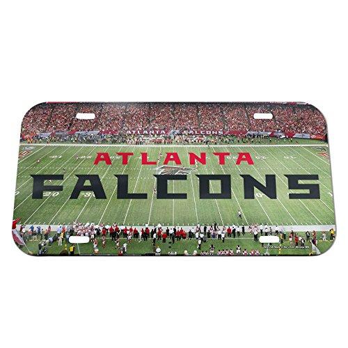 - WinCraft NFL Atlanta Falcons Stadium Crystal Mirror License Plate, 6 x 12