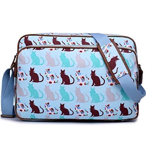 School Cat Body Unisex Oilcloth Satchel Lulu Cat Universe Messenger Large Dog Cross A4 Blue Miss Bag Shoulder q8SEcTS