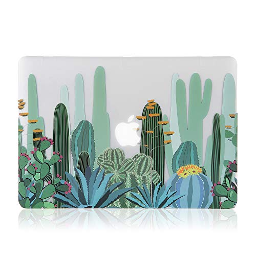 iDonzon MacBook Air 13 inch Case (2010-2017 Release), 3D Effect Matte Clear See Through Hard Case Cover Only Compatible MacBook Air 13.3 inch (Model: A1369 & A1466) - Cactus Pattern