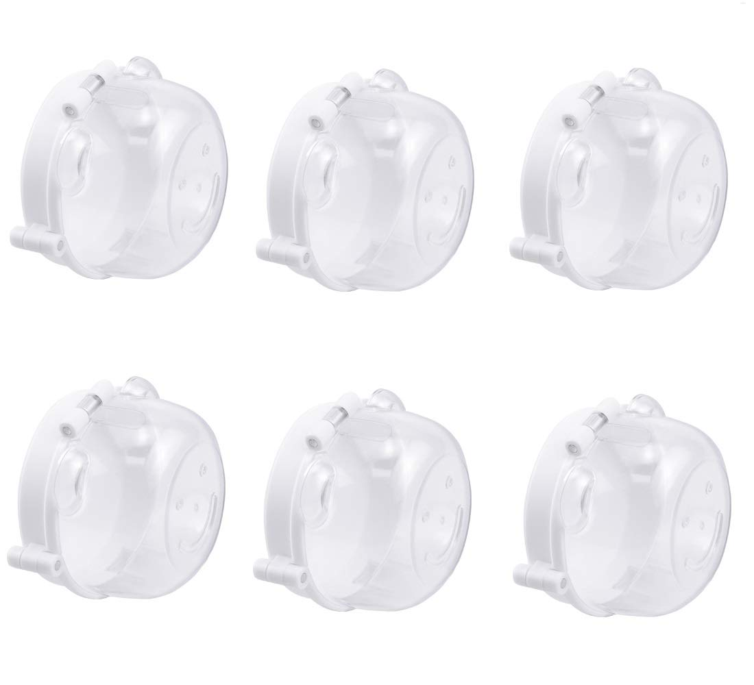 Hysagtek 6 Pack Stove Knob Covers Child Safety Guards Kitchen Gas Knob Covers Locks Child-Proof