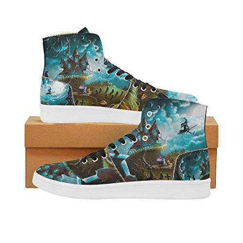 D-story Scarpe Personalizzate Grunge Usa Bandiera High Top Retro Donna Sneaker Multicoloured19