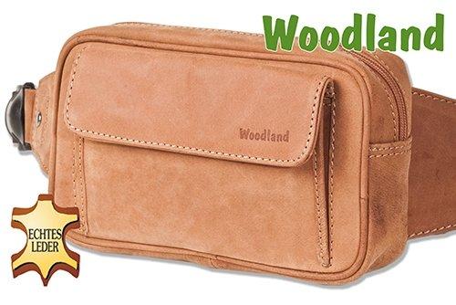 Woodland - bolsillo delantero grande con un montón de piel de ante suave, sin tratar Beige