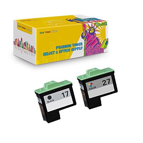 (New York TonerTM New Compatible 2 Pack 10N0217 (#17) 10N0227 (#27) High Yield Inkjet For Lexmark Z13   Z23   Z25   Z33   Z35   Z515   Z605   Z615   X75   X1150   X1185 . -- Black Color)