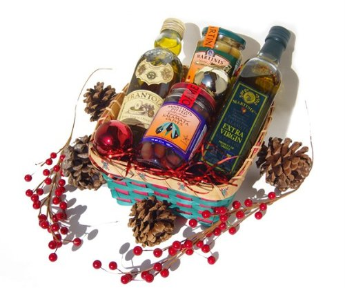Christmas Holiday Gift Basket Frantoia Martinis Olive Oil (Martini Gift Baskets)