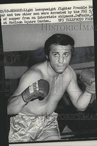 1969 Press Photo Light heavyweight boxer Franke De Paul show his fighting stance - Historic Images (Best Light Heavyweight Boxers)