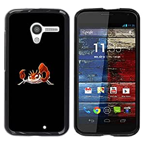 LECELL--Funda protectora / Cubierta / Piel For Motorola Moto X 1 1st GEN I -- Krabby P0kemon --