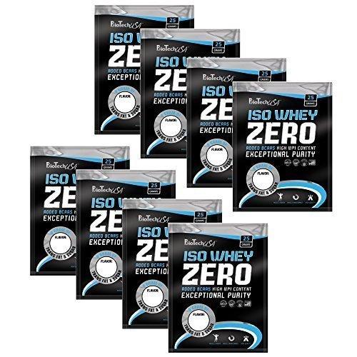 ISO WHEY ZERO MAXIMAL REINES MOLKENPROTEIN-PULVER OHNE LACTOSE, 8 x 25 g Testpaket