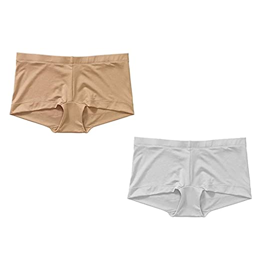 352314fbdc6e Maidenform Sweet Nothings Boy Short Everyday Control Value 2-pack  Beige/White (Small) at Amazon Women's Clothing store: