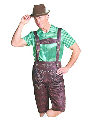 Hyde and Eek Men's Oktoberfest Lederhosen Costume (Large)]()