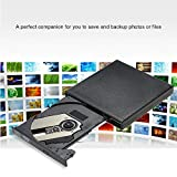 KKmoon USB 2.0 Portable Slim External DVD-RW/CD-RW Optical Disc Drive Reader Writer Player with Combo CD-RW Burner for MacBook/Air/Pro Laptop PC Desktop