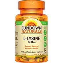 L - Lysine Hcl 500 Mg Dietary Supplement Tablets, By Sundown - 100 Ea