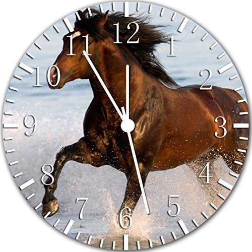 Horse in The Water Frameless Borderless Wall Clock Y38 Nice for Gift or Room Wall Decor