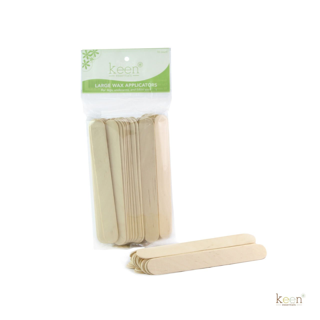 150 Large Keen Wooden Sticks Wax Applicators, Coffee Stir sticks, Crafts KEEN ESSENTIALS