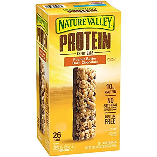 Nature valley protein chewy bar 26 ct. (Nature Valley Peanut Butter Dark Chocolate Protein Bars)