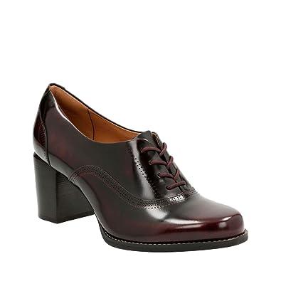 Clarks Tarah Victoria, Damen Pumps, Rot (Burgundy Leather
