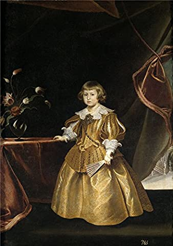 'Luycks Frans Retrato De Una Infanta ' Oil Painting, 24 X 34 Inch / 61 X 87 Cm ,printed On Polyster Canvas ,this Best Price Art Decorative Canvas Prints Is Perfectly Suitalbe For Gift For Relatives And Home Decoration And - Island Company Blue Oxford