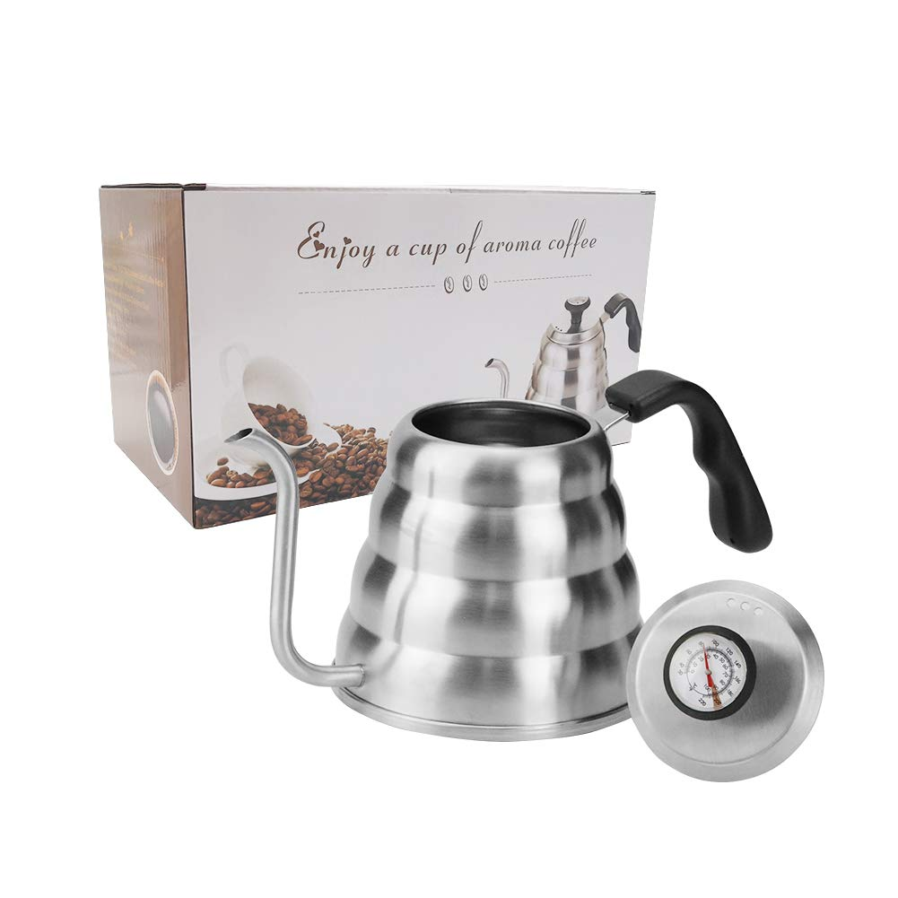 Coffee Kettle with Thermometer for Exact Temperature, 1.2Liter(41floz), Gooseneck Drip Kettle for Coffee, Tea, Home Brewing, Camping and Traveling by ECPURCHASE by ECPURCHASE (Image #7)
