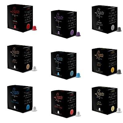 Legato Coffee & Espresso 90 Capsule Sampler Box - Nespresso Compatible ($0.39/capsule)