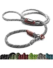 Friends Forever Extremely Durable Dog Rope Leash, Premium Quality Mountain Climbing Rope Lead, Strong, Sturdy Comfortable Leash Supports The Strongest Pulling Large Medium Dogs 6 feet, White