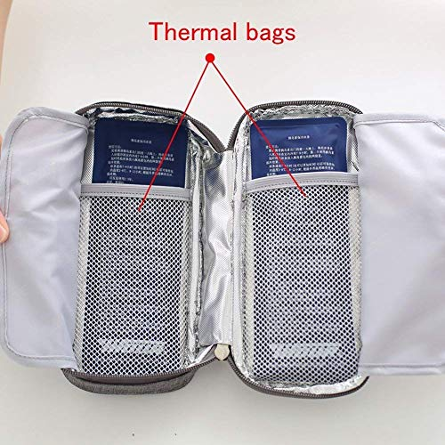 Cooling Packs Baginsulin Znz insulin 2 Diabetic Organize outdoor For Insulated Case Travel Travel Insulin Bag Bag Ice Cooler Medical Wallet Grey Medication 5OOqBZ