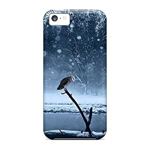 Awesome Case Cover/iphone 5c Defender Case Cover(the Wolf The Owl)