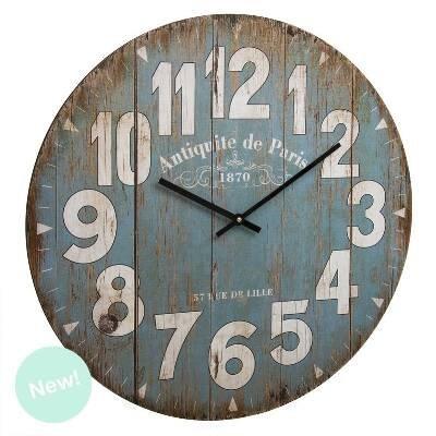 DCASA Reloj Pared 60 Cm Vintage