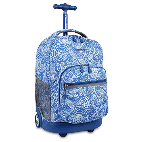 J World New York Boys' Sunrise Rolling Fashion Backpack, Wave, One Size