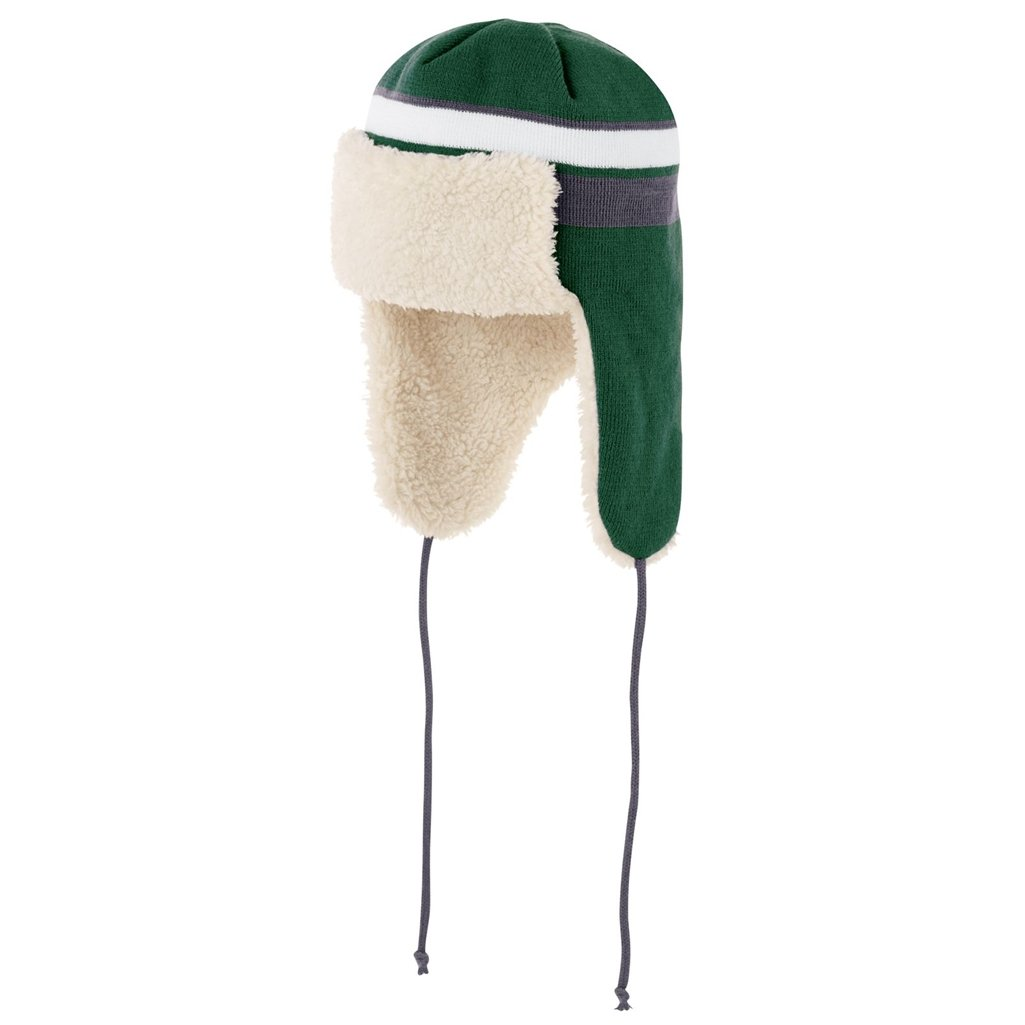 Holloway Comeback Trapper Beanie (One Size Fits Most, Forest/White/Graphite) by Holloway