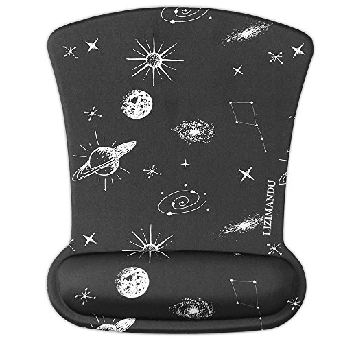 Cheliz Memory Foam Mouse Pad Mat with Wrist Rest (Space)
