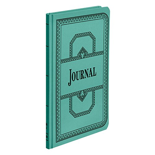 "Boorum & Pease 66 Series Account Book, Journal Ruled, Green, 150 Pages, 12-1/8"" x 7-5/8"" (66-150-J)"