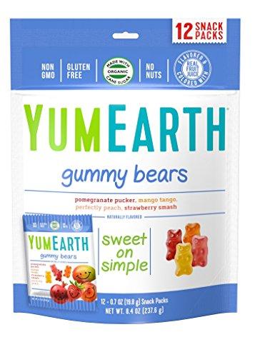 YumEarth Gummy Bears, Pack of 4 - 12