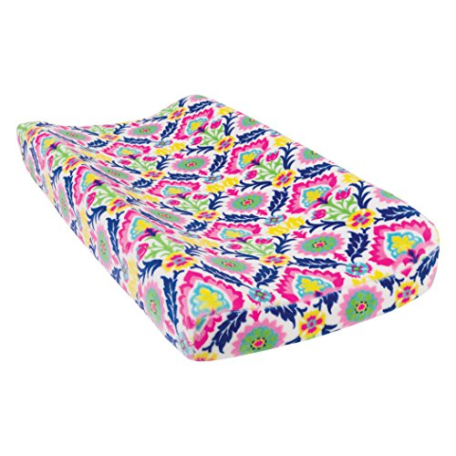 Trend Lab Waverly Baby Santa Maria Plush Changing Pad Cover, Pink/Green/Blue/Yellow