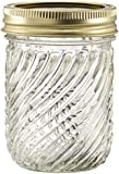 Glass Jelly Jars with Lids and Bands, Set of 12 (8 Oz)