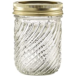 Glass Jelly Jars with Lids and Bands, Set of 12 (8 Oz) (Other Sizes and Designs Available)