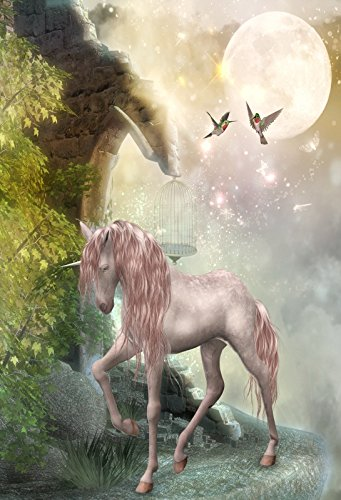 Yeele Backdrops 6.5x10ft Unicorn Dream Fantasy Full Moon Bird Baby Shower Happy Birthday Pictures Adult Artistic Portrait Photoshoot Props Photography Background for $<!--$29.99-->