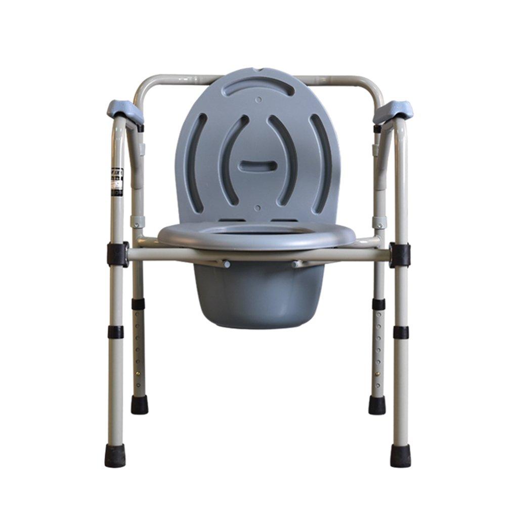 高齢者のためのトイレの座席トイレシート妊婦のトイレシート折りたたみ式の高齢者の便器の障害者の厚い便座の椅子のセーフティトイレ調節可能 B07C5N2JMM