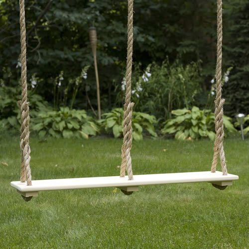 Double Child Tree Swing (33″ X 7.5″) – Natural