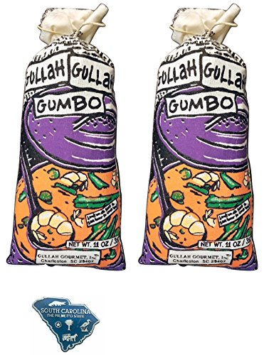 Gullah Gourmet Gumbo Gluten Free - 2/11 oz American Mart Ribbon Wining Mix - Great w/Shrimp - Chicken - Andouille - Kielbasa - Enjoy a Charleston South Carolina Mixture - feeds up to 6 w/SC Magnet