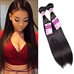 Good Quality 8A Virgin Peruvian Straight Hair 3 Bundles (12 14 16) 100 Unprocessed Virgin Remy Human Hair Weave Extensions 100g/Bundle Natural Color
