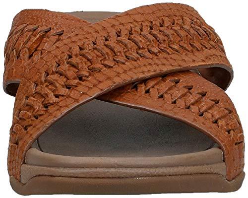 FitFlop-Men-039-s-Surfer-Slide-Woven-Leather-Croc-Embo-Choose-SZ-color thumbnail 3