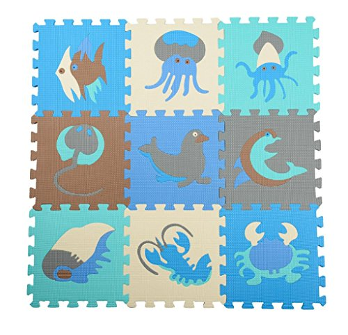 Koolee Kids Puzzle Foam Mat - 9 Pieces C - Blue Ocean Flooring Shopping Results