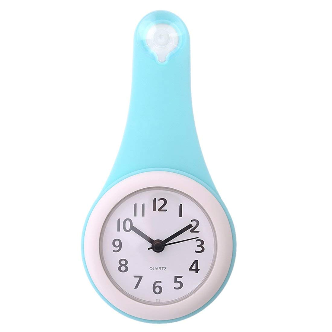 ZSJZHB Modern Minimalist Bathroom Clock, Waterproof and Quiet Home Kitchen with Watch Suction Cup, Waterproof Small Digital Wall Clock Mute Home Decoration by ZSJZHB