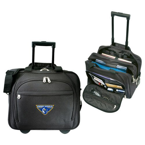 Embry Riddle Prescott Embassy Plus Rolling Black Compu Brief 'Athletic Mark' by CollegeFanGear