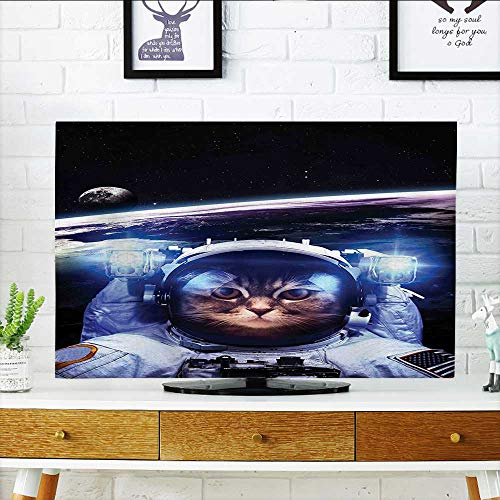 - Auraisehome TV dust Cover Funny Astronaut Cat Above Earth in Outer Space Explorer Kitty Mission Humor Image TV dust Cover W20 x H40 INCH/TV 40
